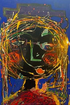 "tirabassi's ""There Goes Jupiter"" [36"" x 24"" - mixed medium on Plexiglass - 2015]"