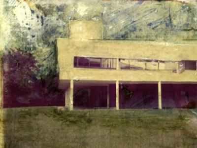 Villa Savoye by Le Corbusier Photo-Painting by Carol Bishop