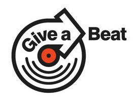 give a beat logo